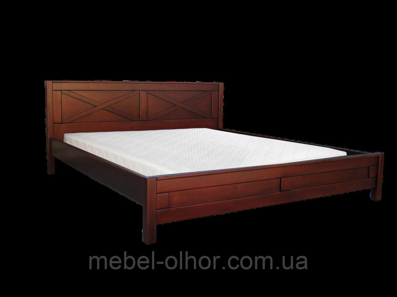 Кровать Глория (массив ольхи) 200*200