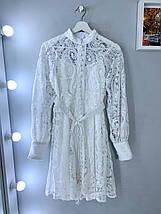 Женское нарядное платье из кружева на пуговицах 42-44 р, фото 3