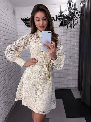 Женское нарядное платье из кружева на пуговицах 42-44 р, фото 2