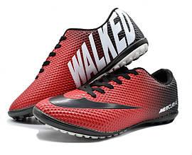 Стоноги футзалки чоловічі червоно чорні 41 розмір