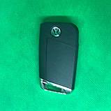 Корпус выкидного авто ключа VOLKSWAGEN Golf 7 (Фольксваген Гольф 7) 3 - кнопки, фото 2