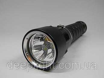 Подводный фонарь Deeplight X3 с белым светом на трёх диодах Cree XM-L2 18W под 26650