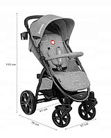 Прогулочная коляска для ребенка в сером цвете Lionelo Annet