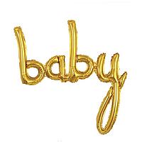Фольгированная надпись 40' Китай Baby золото в упаковке, 100 см