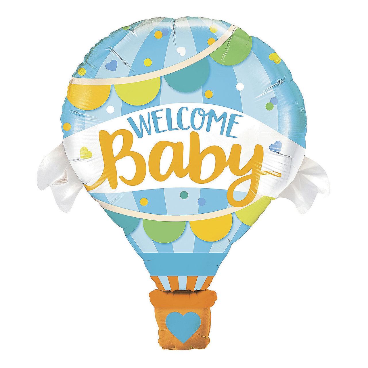 Фольгированный шар 32' Китай Welcome Baby голубой, 80 см