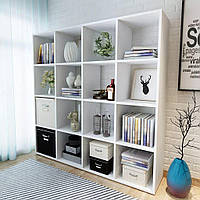 Полиця для книг, стелаж для будинку на 16 клітинок (4 КОЛЬОРИ) 1424x1430x290 мм Можливі Ваші розміри