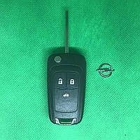 Корпус выкидного авто ключа OPEL INSIGNIA (Опель Инсигния) 3 - кнопки, лезвие HU100