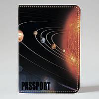 Обложка на паспорт v.1.0. Fisher Gifts 528 Космическое пространство (эко-кожа)