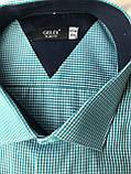 Мужская рубашка Gelix 1142-2 в клетку зеленая, фото 9