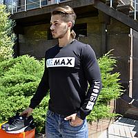 Свитшот мужской черный Nike, кофта мужская, толстовка черная Найк