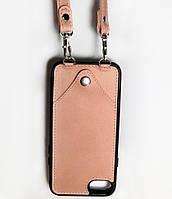 Чехол CROSS на ремешке для iPhone 7 Пудровый (e2zblb)