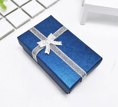 Коробочка подарочная для бижутерии Классическая  Синяя