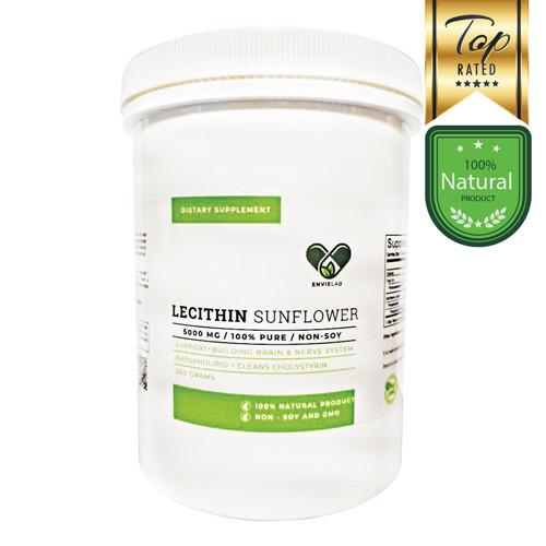 Лецитин (Lecithin) подсолнечный 500 г. 98% фосфолипидов