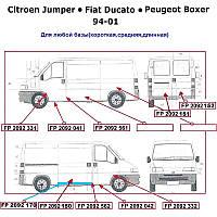 Ремчасть двери CITROEN JUMPER 94-01 задняя левая нижн. малая высота 20см. (FPS). FP2092151