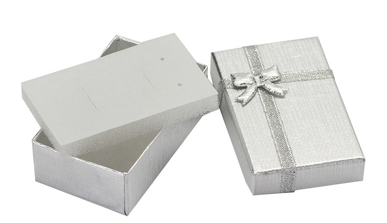 Коробочка подарочная для бижутерии Классическая Серебристая Серая