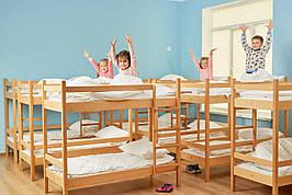 Кровать детская двухъярусная (600-1400) массив