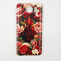 Чехол-бампер TPU силикон для Prestigio PSP3533 Grace Z3 DUO Розы красные