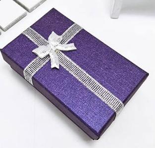 Коробочка подарочная для бижутерии Классическая Фиолетовая