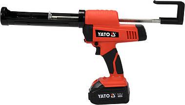 Пистолет для клея и герметика аккумуляторный YATO YT-82888