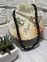 Мужские бусы из натуральных камней ( Агат , Матовый шунгит, Лавовый камень )