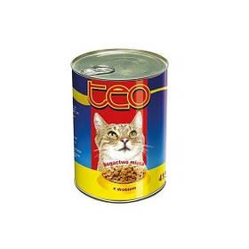 Консерва ТЕО для котов с курицей, 415г