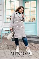 Серое кашемировое пальто Украина батал Размеры: 48-50, 52-54, 56-58, 60-62
