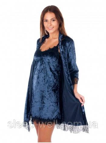 Велюровый комплект с халатом