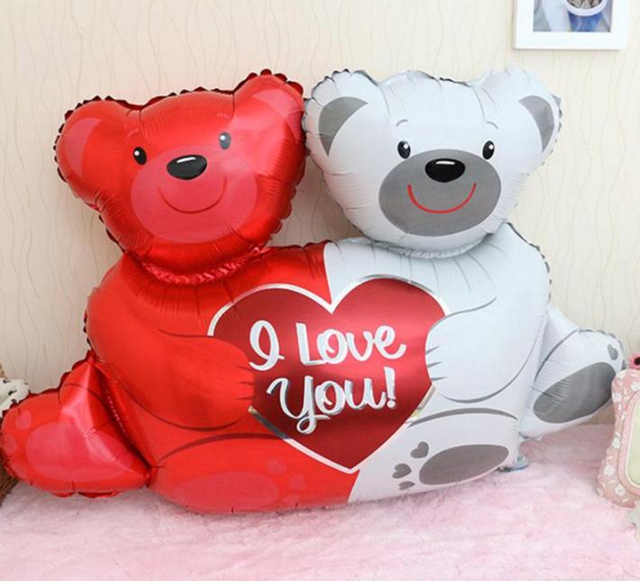 Шар воздушный, шарик, влюбленные медведи!