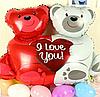Шар воздушный, шарик, влюбленные медведи!, фото 2