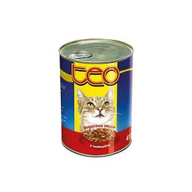 Консерва ТЕО для котов с говядиной, 415г