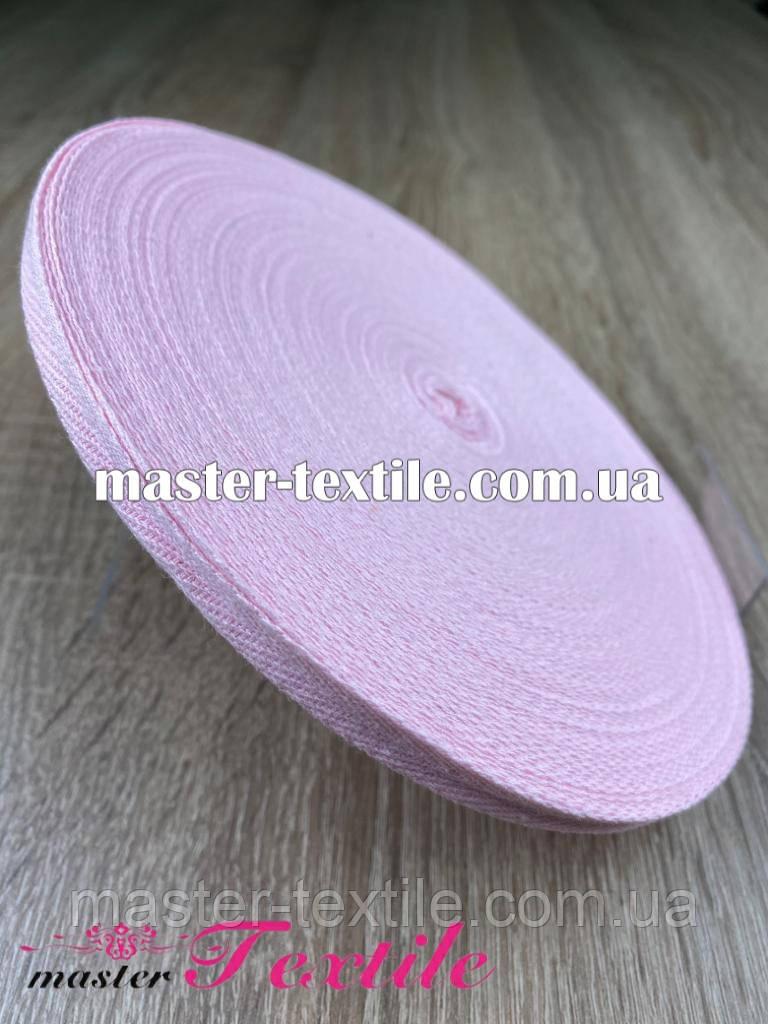 Киперная лента 1 см., х/б 50 ярд (розовая)