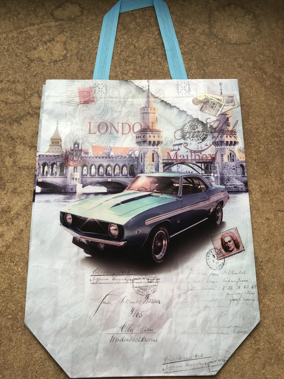 Эко-сумка с ручками ''Ретро'', 31*42*12 см