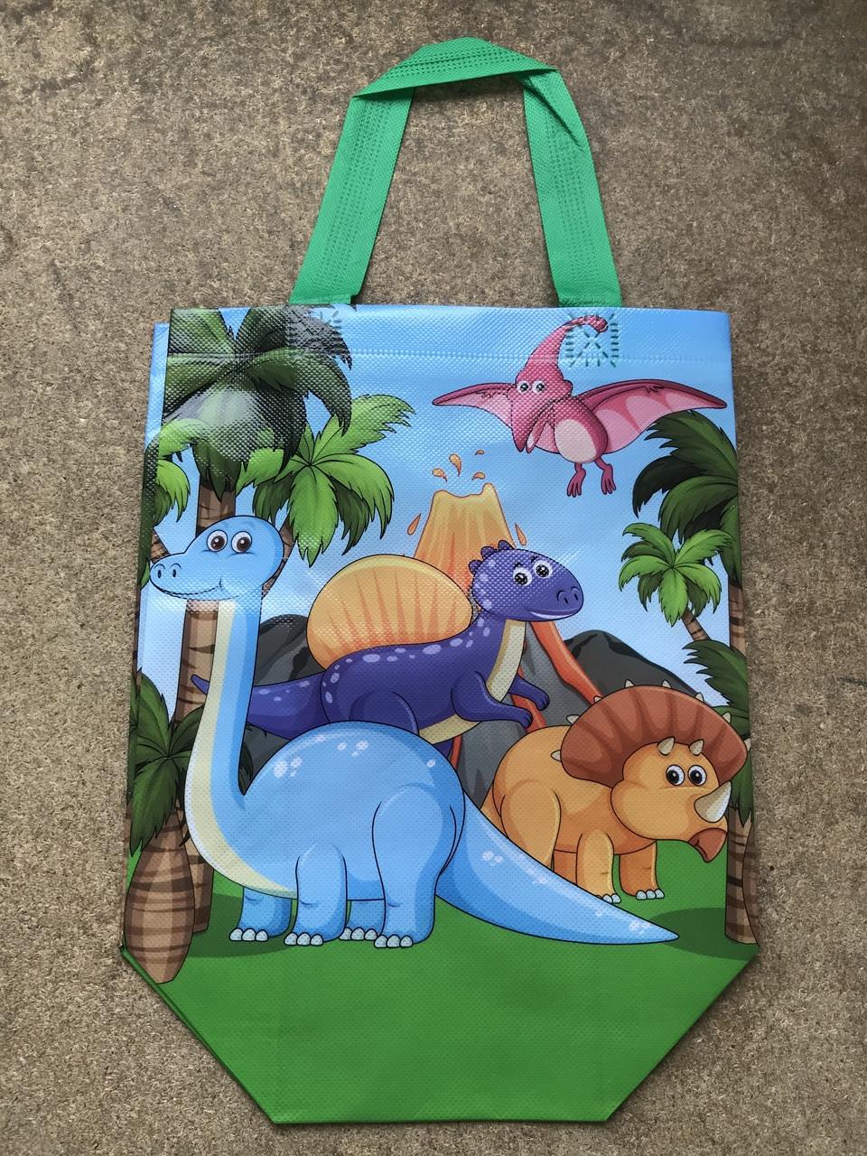 Эко-сумка с ручками ''Динозавры'', 23*30,5 см