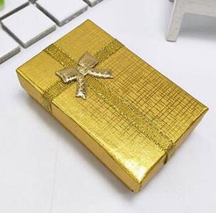 Коробочка подарочная для бижутерии Классическая Золотистая