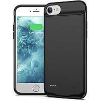 Чехол iPhone 6+/6S+/7+/8+  встроенный аккумулятор Power Bank 4000 мАч Black