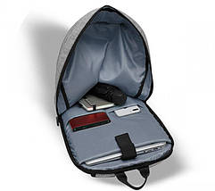 Рюкзак для ноутбука 15.6 Frime Keeper Grey, фото 3