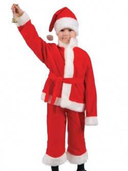 Оригинальный детский карнавальный костюм Деда Мороза детский, Санта Клауса, фото 2