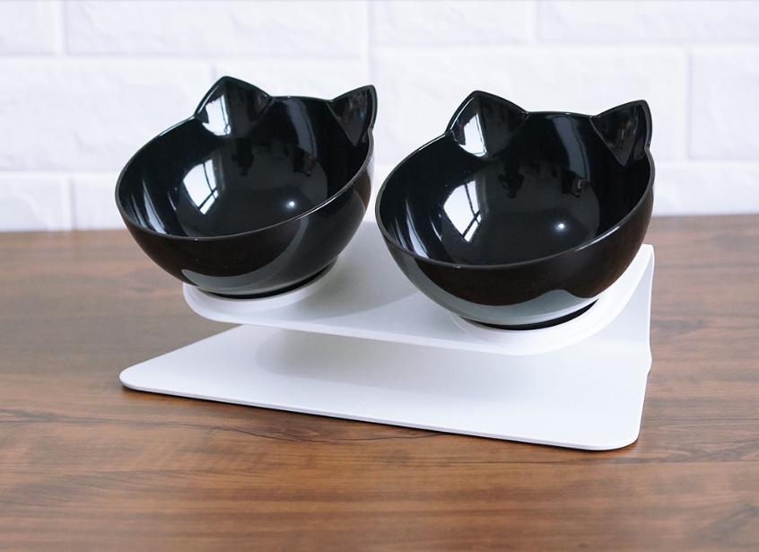 Миска для кота,собаки, тарелка для кота и собаки, набор из 2 шт.