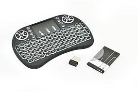 Клавиатура беспроводная русская с подсветкой Rii mini i8 2.4G Черный (R0091)