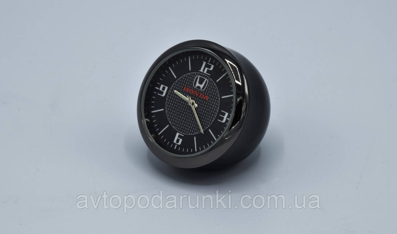 """Часы хром/круглые в автомобиль """"Vehicle clock"""" HONDA"""