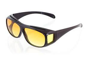 Антибликовые очки для водителей HD Vision Wrap Arounds Day & Night Lenses Черные (R0164)