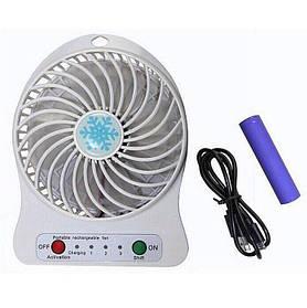 Вентилятор настольный аккумуляторный Usb Mini Fan Белый (R0178)