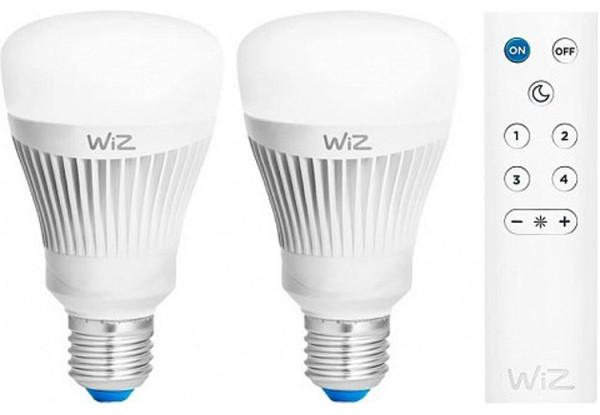 Смарт-лампа WiZ LED Smart Е27 806Lm 2200-6500K Набір 2 шт + пульт ДУ
