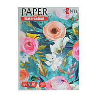 "Набір акварельного паперу SANTI ""Floristics"", А4, ""Paper Watercolor Collection"", 18 л., 200г/м2"