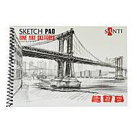 """Альбом для графіки SANTI, А5, """"Fine art sketches"""", 20 л. 190 г / м2"""