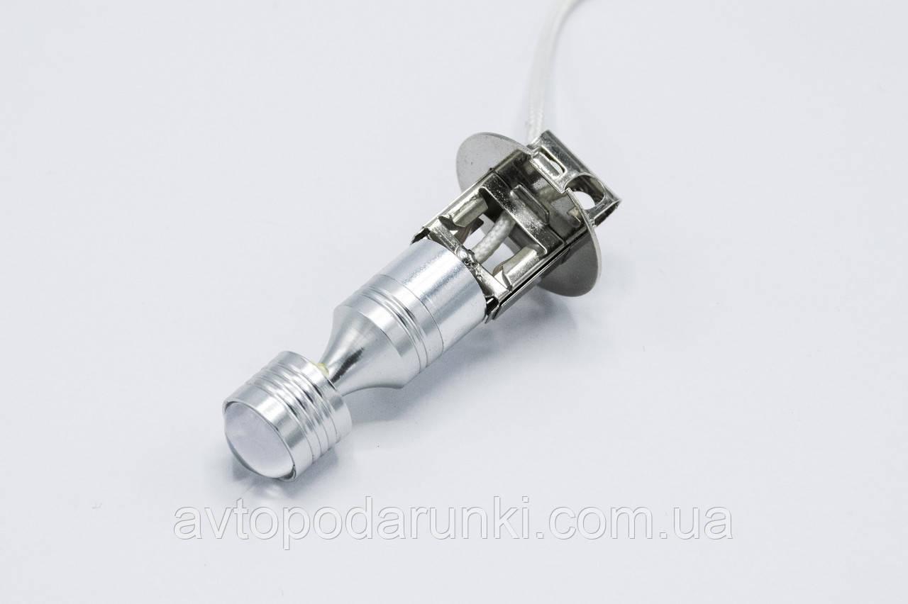 Габарит LED H3 #69 - 6LED конус-линза (метал-2side) / цвет Белый