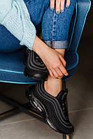Кроссовки женские Nike Air Max 97 Black (реплика), черные