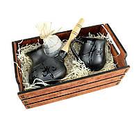 Подарочный кофейный набор турка Иероглиф 350 мл с чашкой 250 мл в деревянном ящике (5351476)