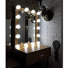 LED лампочки для гримерного зеркала 12шт с адаптером HOLLYWOOD DIY VANITY ADJUSTABLE LIGHT KIT, фото 3