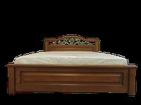 Кровать деревянная Вера (с кованным элементом)200*200